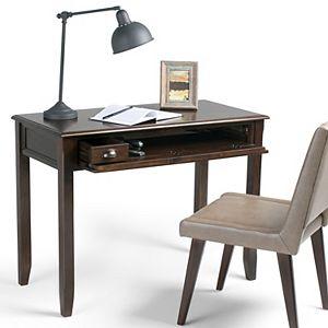 Simpli Home Burlington Traditional Writing Office Desk