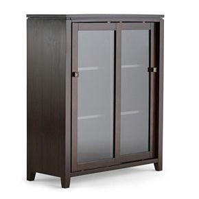 Simpli Home Cosmopolitan Contemporary Medium Storage Cabinet