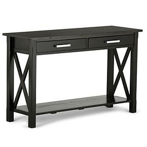 Simpli Home Kitchener Solid Wood 47 in. Wide Contemporary Console Sofa Table