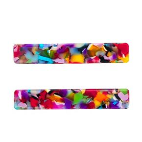 Juniors SO® 2-pk. Multi Colored Bar Acetate Hair Clip