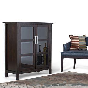 Simpli Home Kitchener Solid Wood 39 in. Wide Contemporary Medium Storage Cabinet