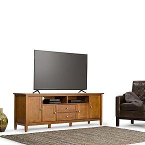 Simpli Home Warm Shaker Rustic TV Media Stand
