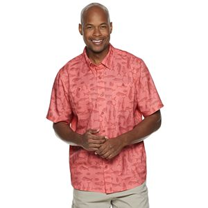 Men's Reel Life Pacific Series Woven Short Sleeve Button-Down Shirt