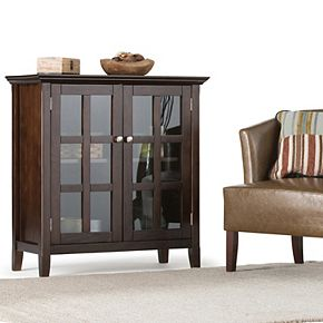 Simpli Home Acadian Rustic Low Storage Cabinet
