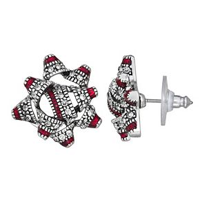 Napier Christmas Present Bow Stud Earrings