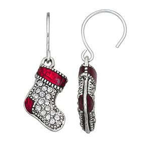 Napier Christmas Stocking Drop Earrings
