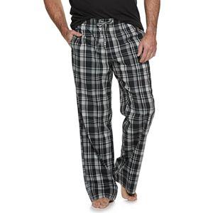 Big & Tall Croft & Barrow® Plaid Stretch Woven Pajama Pants