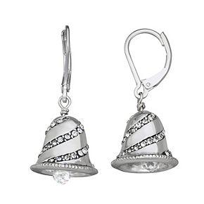 Napier Bell Leverback Silver-Tone Drop Earrings
