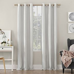 Sun Zero Bardot Dupioni Faux Silk 100% Blackout Window Curtain