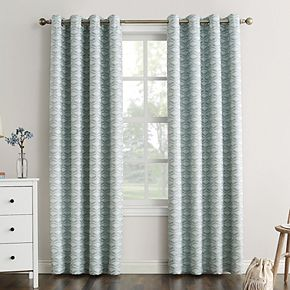 Sun Zero Raleigh Geometric 100% Blackout Grommet Window Curtain