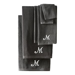 Nicole Miller 6-piece Monogram Bath Towel Set