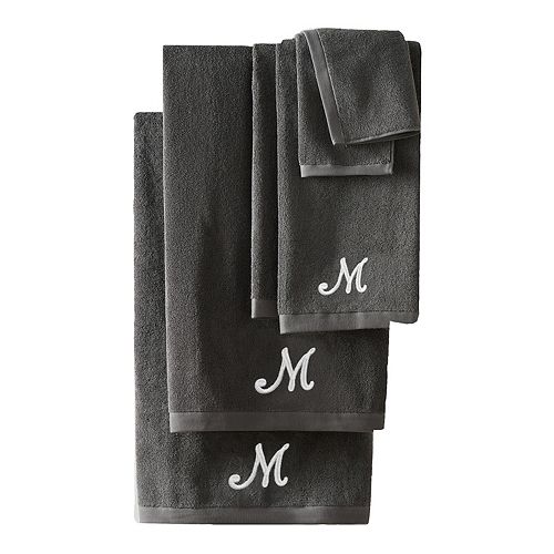 Nicole Miller 6-piece Monogram Bath Towel Set