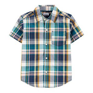 Baby Boy Carter's Plaid Poplin Button Front Shirt