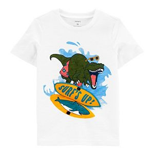Baby Boy Carter's Surfing Dinosaur Interactive Lift Flap Tee