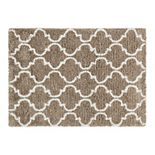 Chesapeake Microfiber Polyester Shag 5'x7' Ivory Design Deco Area Rug
