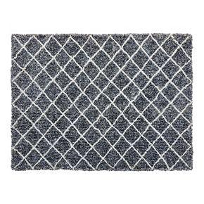 Chesapeake Microfiber Polyester Shag 5'x7' Maximo Diamond Area Rug