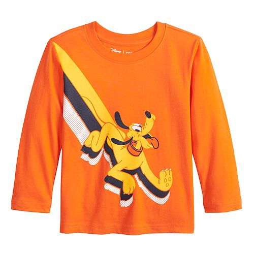 Disney's Pluto Toddler Boy Long Sleeve Softest Graphic Tee by Jumping Beans®