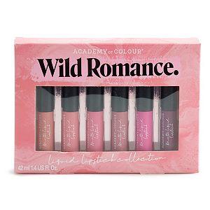 Academy of Colour Wild Romance 6-Piece Liquid Lipstick Collection