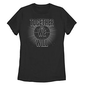 """Juniors' Star Wars """"Together We Will"""" Grey Scale Logo Tee"""