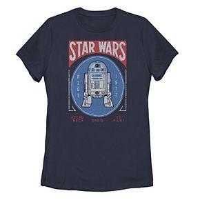 Juniors' Star Wars R2-D2 1977 Circle Portrait Logo Tee
