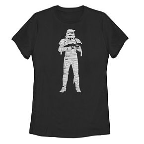 Juniors' Star Wars Mummy Stormtrooper Portrait Tee