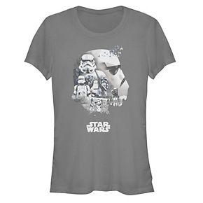 Juniors' Star Wars Stormtrooper Head Shot Fill Tee