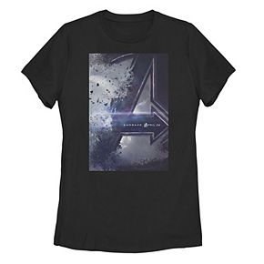 Juniors' Marvel Avengers Endgame Movie Poster Graphic Tee