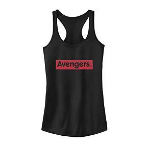 Juniors' Marvel Avengers Red Logo Graphic Tank