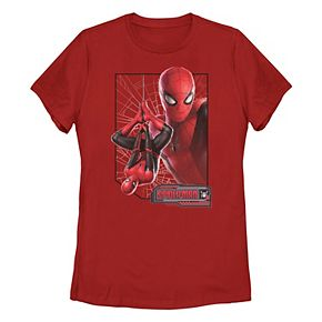 Juniors' Marvel Spider-Man Far From Home Pose Poster Graphic Tee