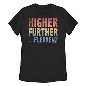 "Juniors' Captain Marvel ""Higher Further Flerken"" Graphic Tee"
