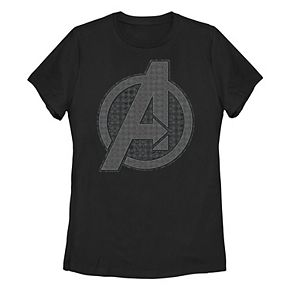 Juniors' Marvel Avengers Endgame Hero Icon Fill Logo Tee
