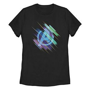 Juniors' Marvel Endgame Logo Color Swipe Tee