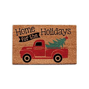 Park B. Smith Quality Living Holiday Truck Coir Doormat