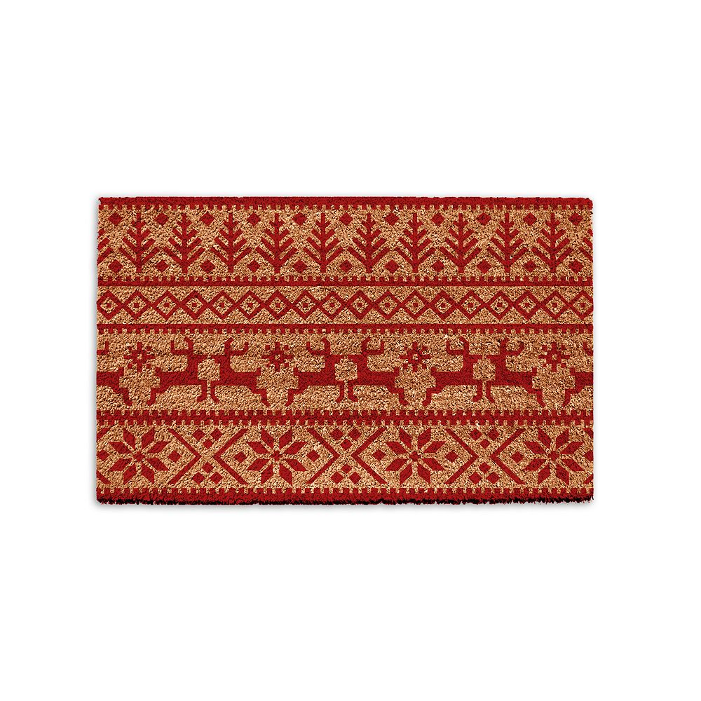 Park B. Smith Quality Living Holiday Pattern Coir Doormat