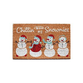 Park B. Smith Quality Living Holiday Snowmies Coir Doormat