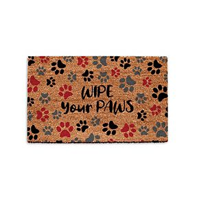 Park B. Smith Quality Living Holiday Wipe Your Paws Coir Doormat
