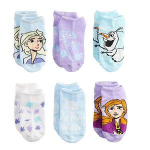 Disney's Frozen 2 Girls 6-Pack No-Show Socks