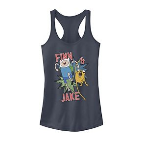 Juniors' Adventure Time Jake And Finn Action Pose Tank