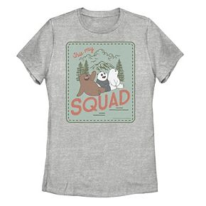 Juniors' We Bare Bears This My Squad Group Shot Poster Tee