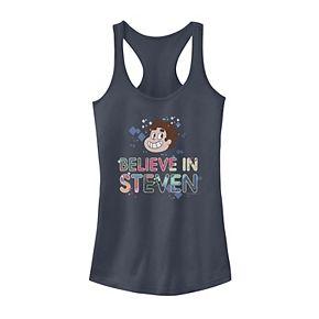Juniors' Steven Universe Believe In Steven Head Shot Portrait Tank