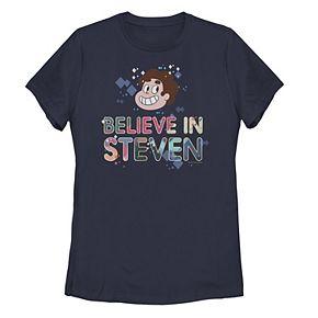 Juniors' Steven Universe Believe In Steven Head Shot Portrait Tee