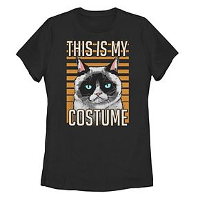Juniors' Grumpy Cat This Is My Costume Portrait Tee
