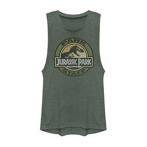 Juniors' Jurassic Park Park Staff Badge Muscle Tank