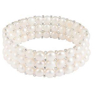 Freshwater Pearl Triple Row Stretch Bracelet
