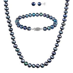 Black Freshwater Pearl 3-Piece Set