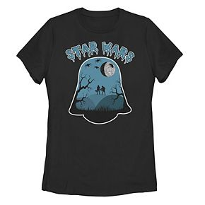 Juniors' Star Wars Darth Vader Helmet Halloween Tee
