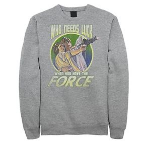 """Juniors' Star Wars """"Who Needs Luck When You Have The Force"""" Retro Fleece"""