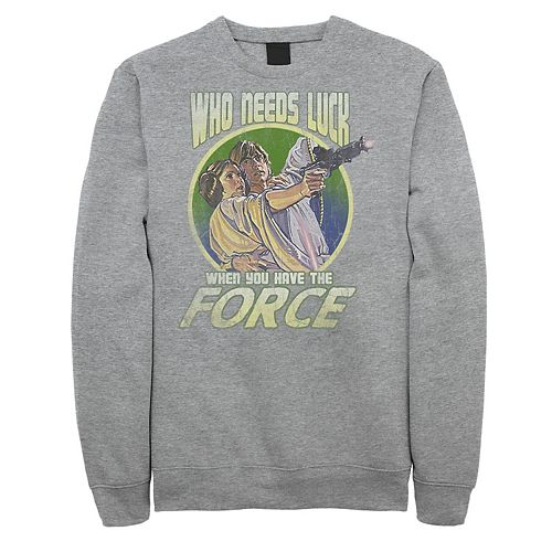"Juniors' Star Wars ""Who Needs Luck When You Have The Force"" Retro Fleece"