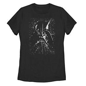 Juniors' Star Wars Darth Vader Space Tee