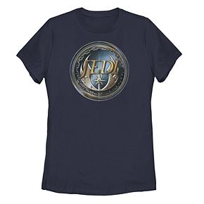 Juniors' Star Wars Jedi Metal Wings Crest Tee